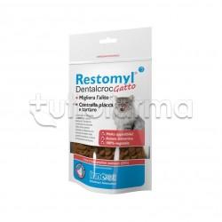 Restomyl Dentalcroc Gatti Veterinario per Denti dei Gatti 60g