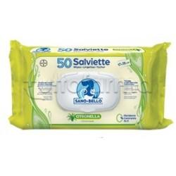 Sano e Bello Salviette Detergenti con Citronella Veterinarie per Cani e Gatti 50 Pezzi