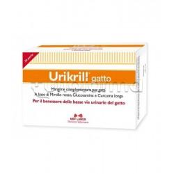 Urikrill Gatto Mangime Veterinario per Vie Urinarie del Gatto 30 Perle