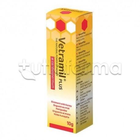 Vetramil Plus Unguento Veterinario al Miele per Prurito di Animali Domestici 10g