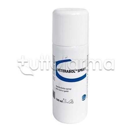 Veterabol Spray Veterinario per Affezioni Cutanee di Cani e Gatti 100ml