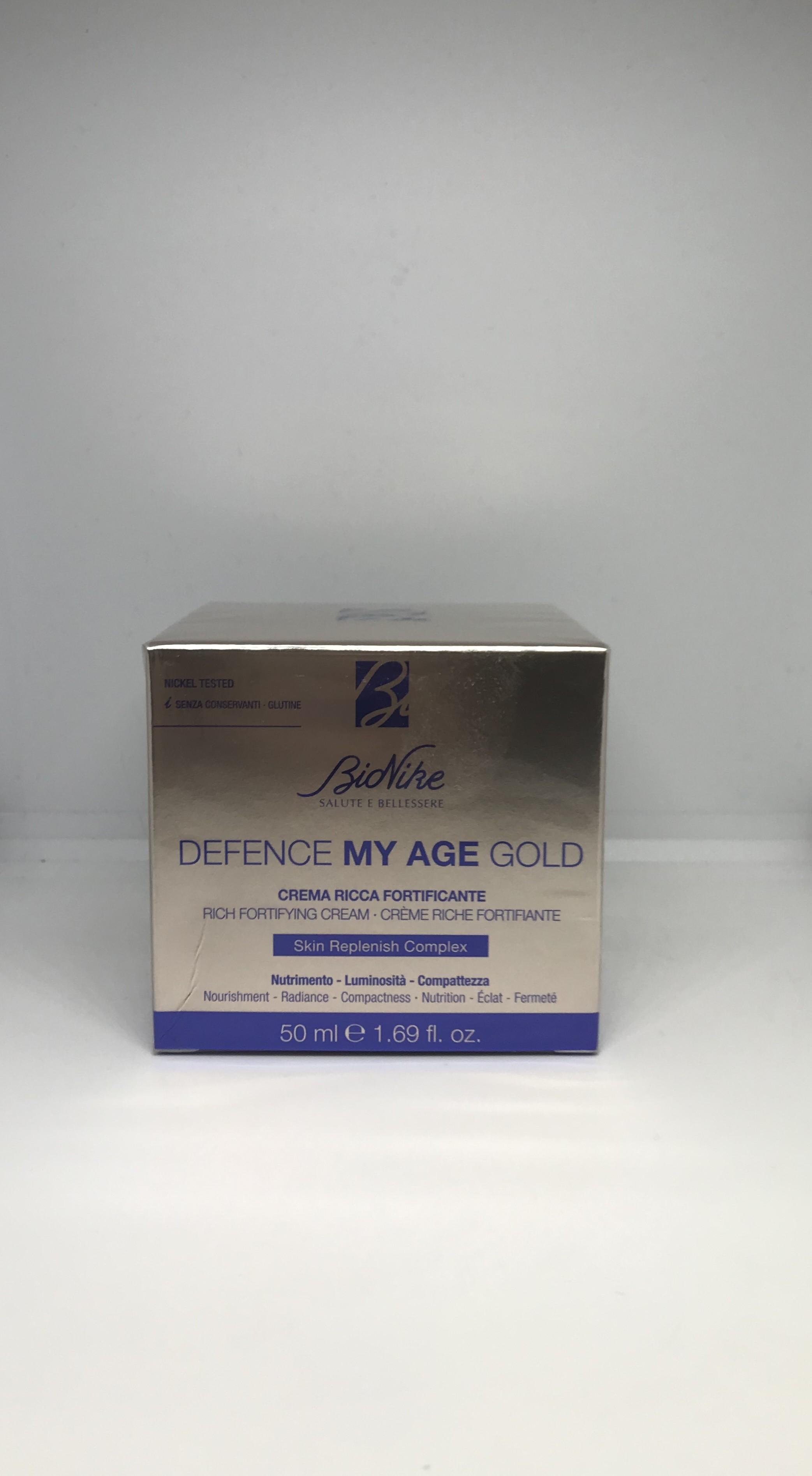 Bionike Defence My Age Gold Crema Fortificante Per Pelli Mature 50ml