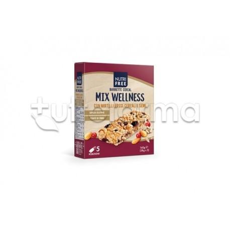 Nutrifree Barrette Cereal Mix Wellness Senza Glutine 5 Pezzi