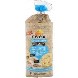 Cereal Gallette Integrali Mais, Riso e Semi Senza Glutine 115g