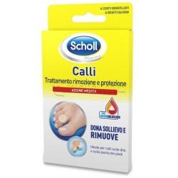 Dr. Scholl's 4 Cerotti Callifughi Trattamento Rimozione e Protezione Azione Medica