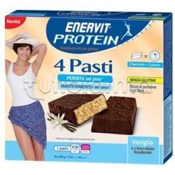 Enervit Protein 4 Barrette Sostituto Pasto Cioccolato Vaniglia 45Gr