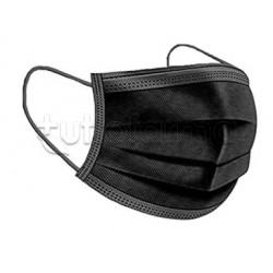 Mascherina Chirurgica Monouso a Triplo Strato My Mask Pro Nero - Confezione 10 Pezzi - 40 Centesimi a Mascherina