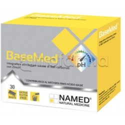 Named Basemed Integratore con Sali Minerali Alcalinizzanti 30 Bustine