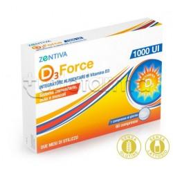 Zentiva D3 Force 1000UI Integratore per Difese Immunitarie 60 Compresse
