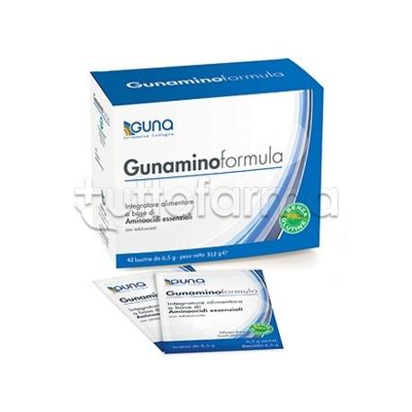 Guna Gunamino Formula Integratore con Aminoacidi Essenziali per Diete e Sport 42 Bustine