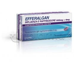 Efferalgan Influenza e Raffreddore 16 Compresse 500mg Paracetamolo + 4mg Clorfenamina