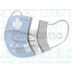 Mascherina Chirurgica Amen per Bambini Monouso a Triplo Strato Angelo Sky - Confezione 10 Pezzi - 40 Centesimi a Mascherina
