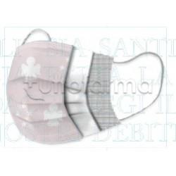 Mascherina Chirurgica Amen per Bambini Monouso a Triplo Strato Angelo Rosa-Confezione 10 Pezzi - 40 Centesimi a Mascherina