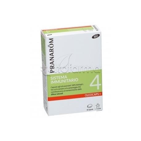 Pranarom Oleocaps+ 4 Bio Sistema Immunitario 30 Capsule