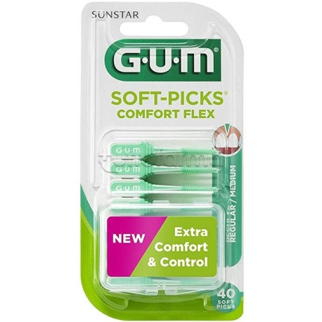Gum Soft Picks Scovolino Comfort Flex 40 Pezzi
