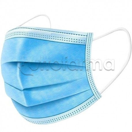 Mascherina Chirurgica Monouso a Triplo Strato BDR- Confezione 10 Pezzi - 20 Centesimi a Mascherina