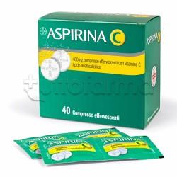 Aspirina C Antinfiammatorio per Influenza e Raffreddore 40 Compresse Effervescenti 400+240mg