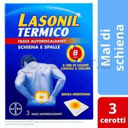 Lasonil Termico Schiena/Spalle Cerotti Antinfiammatori 3 Pezzi