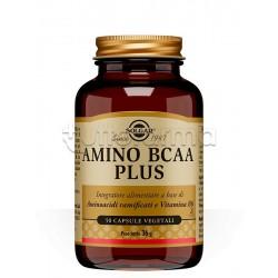 Solgar Amino BCAA Plus Integratore con Aminoacidi per Sportivi 50 Capsule
