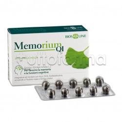 BiosLine Memorium Qi Integratore per Memoria e Concentrazione 30 Capsule