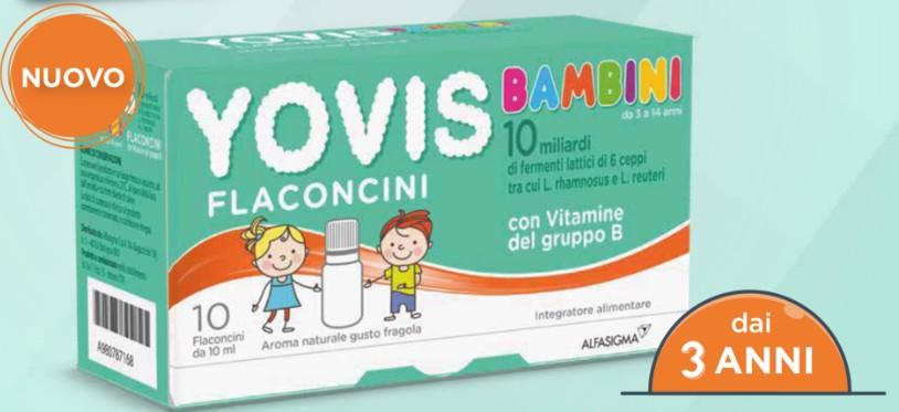 Yovis Bambini con Fermenti Lattici Gusto Fragola 10 Flaconcini