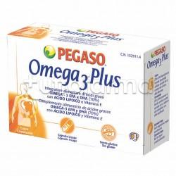 Pegaso Omega 3 Plus Integratore con Omega 3 40 Capsule