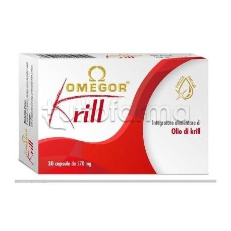 Omegor Krill Integratore con Omega 3 30 Capsule