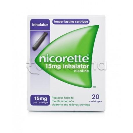 Nicorette Inhaler 20 Flaconcini Monodosi 15 mg Nicotina per Disassuefazione da Sigarette