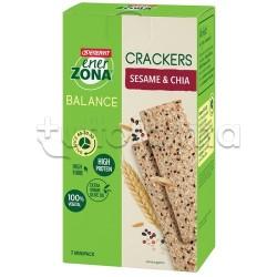 Enervit Enerzona Crackers Gusto Sesamo e Semi di Chia 7 Minipack