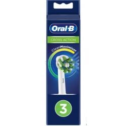 Oral-B CrossAction Eb-50 Testine Ricambio Spazzolino Elettrico 3 Pezzi