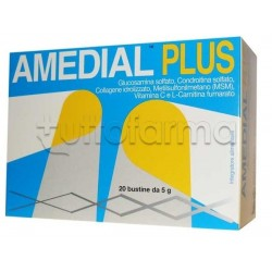 Amedial Plus Integratore Ossa Cartilagini Collagene 20 Bustine