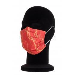 Mascherina Chirurgica per Adulti a Triplo Strato Fashion Rossa