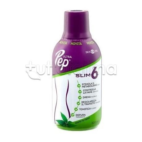 Bios Line Ultra Pep Slim 6 Integratore per Controllo del Peso Gusto Te' Verde 500ml