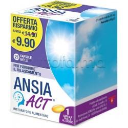 Ansia Act Integratore per Ansia e Insonnia 21 Capsule