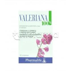 Valeriana 100% Integratore per Sonno e Rilassamento 60 Compresse
