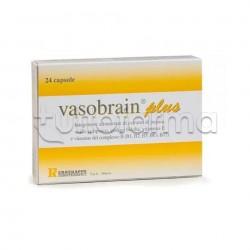 Vasobrain Plus Integratore per Benessere Cerebrale 24 Capsule
