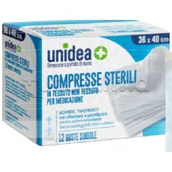 Unidea Garza in TNT 36 x 40cm per Medicazioni 12 Pezzi
