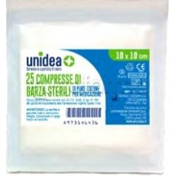 Unidea Garza in Cotone 10 x 10cm per Medicazioni 25 Pezzi