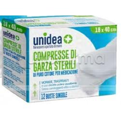 Unidea Garza in Cotone 18 x 40cm per Medicazioni 12 Pezzi