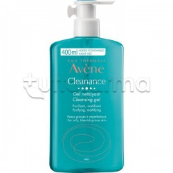 Avene Cleanance Gel Detergente Viso per Acne 400ml