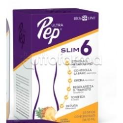 Bios Line Ultra Pep Slim 6 Integratore per Controllo del Peso Gusto Ananas 20 Stick