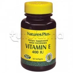 Nature's Plus Vitamina E 400 UI Integratore Antiossidante 60 Capsule