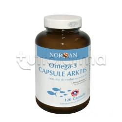 Norsan Omega-3 Capsule Arktis Olio Naturale di Merluzzo 120 Capsule