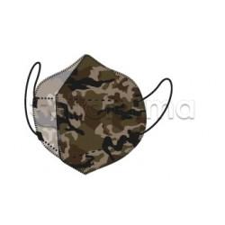 Mascherina My Mask Pro Respiratoria Filtrante FFP2 Certificata CE  Fantasia Militare 1 Mascherina