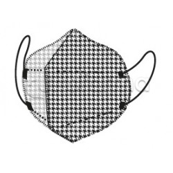 Mascherina My Mask Pro Respiratoria Filtrante FFP2 Certificata CE  a Scacchi Bianchi e Neri 1 Mascherina