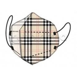 Mascherina My Mask Pro Respiratoria Filtrante FFP2 Certificata CE  Fantasia Tartan 1 Mascherina