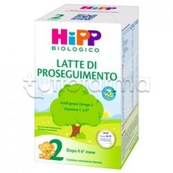 Hipp Latte 2 di Proseguimento Biologico in Polvere 600g