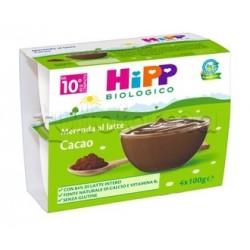 Hipp Biologico Merenda al Latte al Cacao 4 x 100g