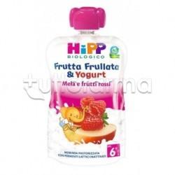 Hipp Biologico Frutta Frullata Mela Frutti Rossi e Yogurt 90g