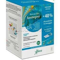 Aboca Natura Mix Advanced Sostegno Integratore Ricostituente Confezione Speciale 40% In Omaggio 20 Buste+8 Buste